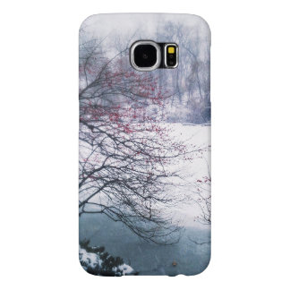 Snowy Pond in Central Park Samsung Galaxy S6 Case