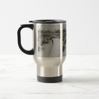 Snowy Pond Travel Mug