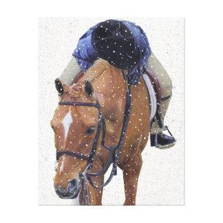 Snowy Pony Holiday Canvas Print