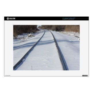 Snowy Railroad Track Laptop Sleeve Laptop Skins