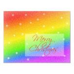 Snowy Rainbow Christmas Custom Announcements