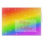Snowy Rainbow Christmas Greeting Cards