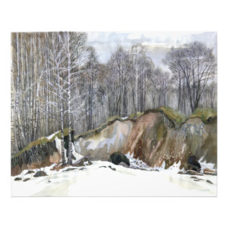 Snowy ravine photo print