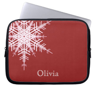 Snowy Red Laptop Sleeve