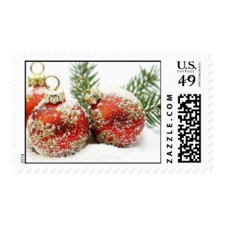 Snowy Red Ornament Stamp