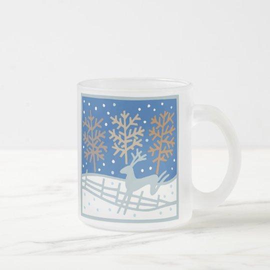Snowy Reindeer Mug
