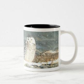 Snowy Respite Two-Tone Coffee Mug