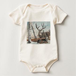 Snowy ridge bucks baby bodysuit