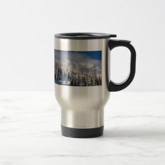 snowy ridge travel mug