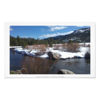 """Snowy River Rushes,"" Sierra Nevada Nature Photo Print"