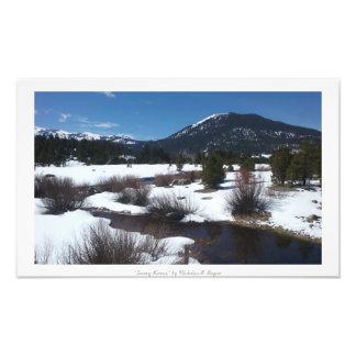 """Snowy Rivers,"" Sierra Nevada Nature Photo Print"