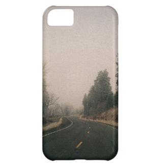 snowy road iPhone 5C cases