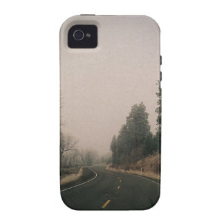 snowy road iPhone 4 case