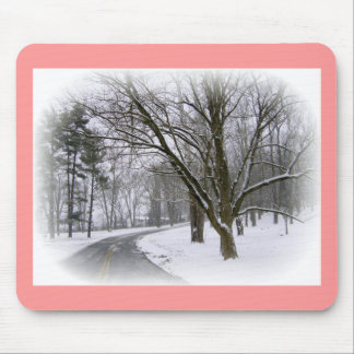Snowy Road-Customize Mousepads