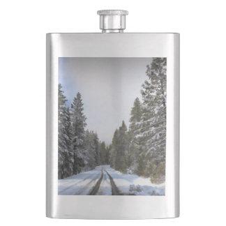 SNOWY ROAD FLASK