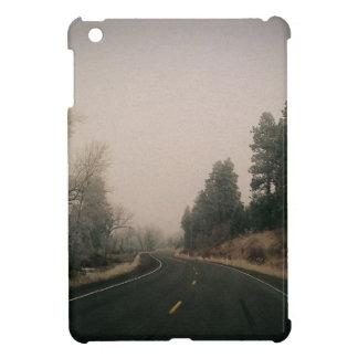 snowy road iPad mini case