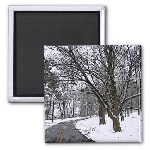 Snowy Road Merchandise Fridge Magnets