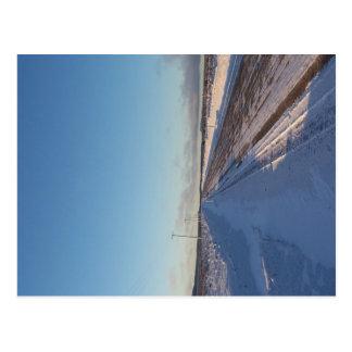 Snowy Road Postcard