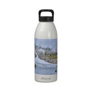 Snowy Road Reusable Water Bottles