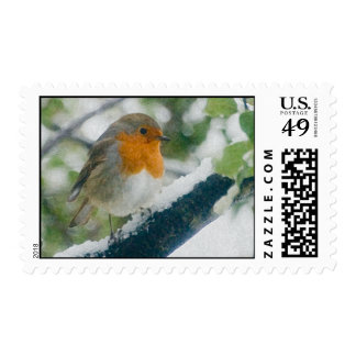 Snowy Robin Postage