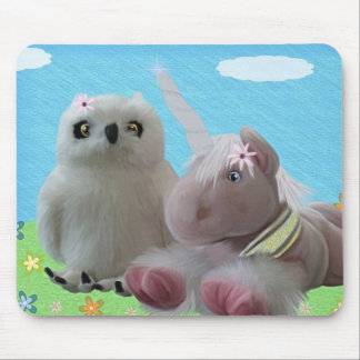 Snowy & Ruby Sparkle Mouse Pad