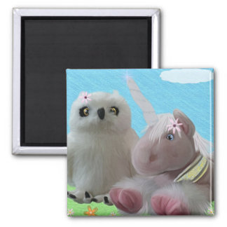 Snowy & Ruby Sparkle Refrigerator Magnets