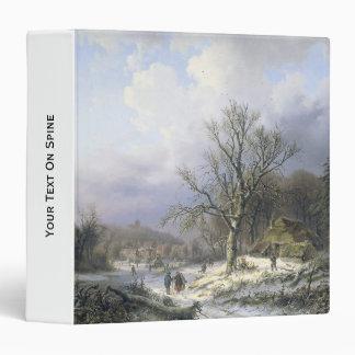 Snowy Rural Landscape Daiwaille 1845 Vinyl Binders