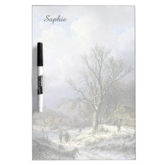 Snowy Rural Landscape, Daiwaille 1845 Dry Erase Board
