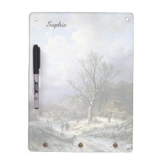 Snowy Rural Landscape, Daiwaille 1845 Dry-Erase Boards