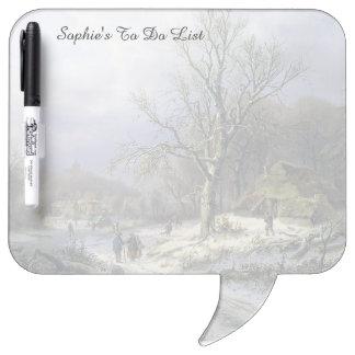 Snowy Rural Landscape, Daiwaille 1845 Dry Erase Boards
