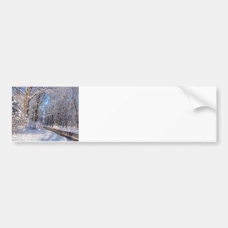Snowy Rural Michigan Bumper Sticker