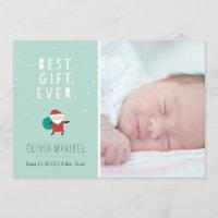 Snowy Santa Holiday Card