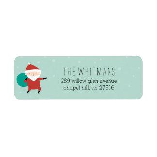 Snowy Santa Label