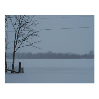 Snowy Scene From Central Indiana Postcard
