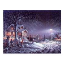 Snowy scene postcard