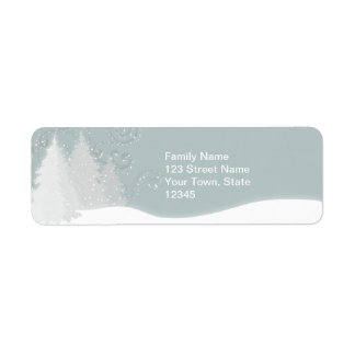 Snowy Scene Return Address Label