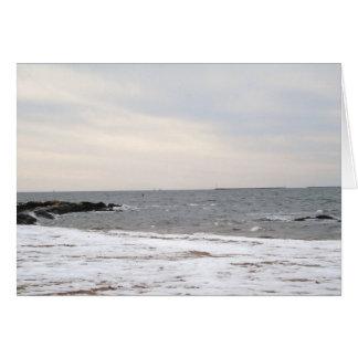Snowy Seascape Card