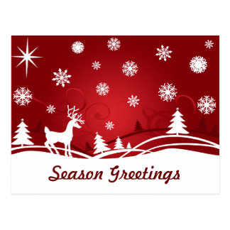 Snowy Season Greetings Card #2