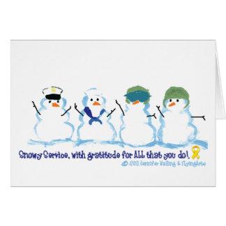 Snowy Service Notecards Card
