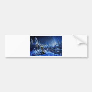 Snowy Shooting Star Bumper Sticker