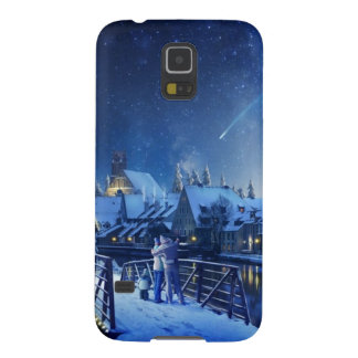 Snowy Shooting Star Galaxy Nexus Cases