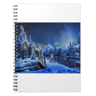 Snowy Shooting Star Journals