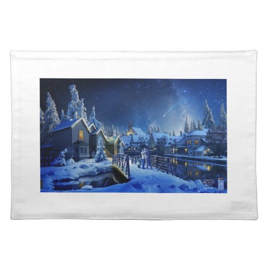 Snowy Shooting Star Placemat