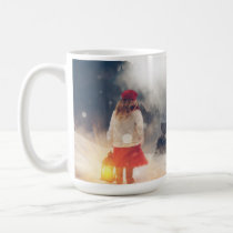 Snowy Silent Night Log Cabin Christmas Mug