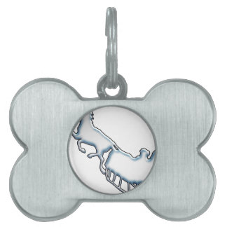 Snowy Sled Pet Name Tag