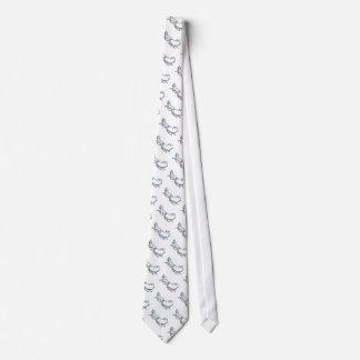 Snowy Sled Tie