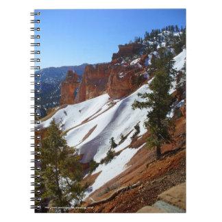 Snowy Slope Spiral-Bound Notebook