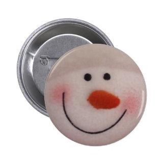 Snowy Snowman 2 Inch Round Button