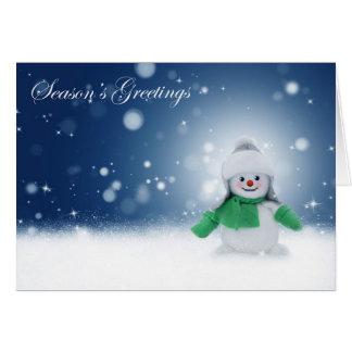 Snowy Snowman Christmas Scene card