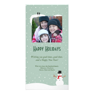 Snowy Snowman Holiday Photo Card